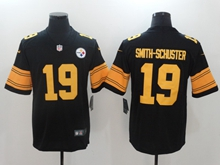 Mens Nfl Pittsburgh Steelers #19 Smith-schuster Black Color Rush Limited Jersey