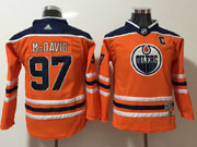 Youth Nhl Edmonton Oilers #97 Connor Mcdavid Orange Adidas Jersey