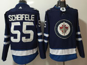 Mens Nhl Winnipeg Jets #55 Mark Scheifele Dark Blue Adidas Jersey