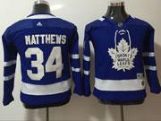 Youth Women Nhl Toronto Maple Leafs #34 Auston Matthews Blue Hockey Adidas Jersey