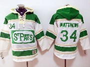 Mens Nhl Toronto Maple Leafs #34 Auston Matthews White Green Ice Hoodie Jersey