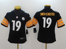 Women Youth Nfl Pittsburgh Steelers #19 Smith-schuster Black Vapor Untouchable Limited Jersey