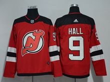 Mens Nhl New Jersey Devils #9 Taylor Hall Red Adidas Jersey