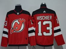 Mens Nhl New Jersey Devils #13 Nico Hischier Red Adidas Jersey