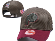 Mens Nfl Washington Redskins Black Peaked Caps