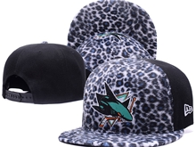 Mens Nhl San Jose Sharks Leopard Print Caps