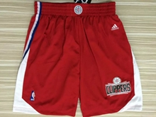 Mens Nba Los Angeles Clipper Red 2015 Shorts