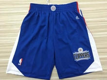 Mens Nba Los Angeles Clipper Blue 2015 Shorts