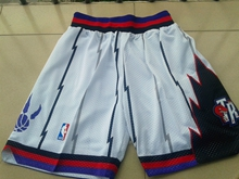 Mens Nba Toronto Raptors White Mesh Shorts