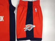 Mens Nba Oklahoma City Thunder Orange Shorts