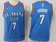 Youth Oklahoma City Thunder #7 Carmelo Anthony Blue Swingman Nike Jersey