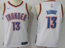 Youth Oklahoma City Thunder #13 Paul George White Swingman Nike Jersey