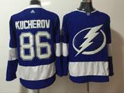 Mens Tampa Bay Lightning #86 Nikita Kucherov Blue Adidas Jersey