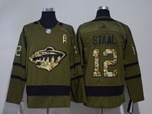Mens Nhl Minnesota Wild #12 Staal Green Adidas Hockey Jersey