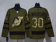Mens Nhl New Jersey Devils #30 Martin Brodeur Green Adidas Hockey Jersey