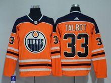 Mens Nhl Edmonton Oilers #33 Cam Talbot Orange Adidas Jersey