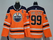 Youth Women Nhl Edmonton Oilers #99 Wayne Gretzky Orange Adidas Jersey