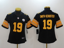 Women Youth Nfl Pittsburgh Steelers #19 Smith-schuster Black Vapor Untouchable Color Rush Limited Jersey