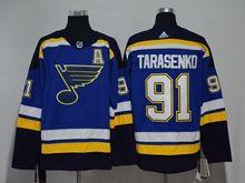 Mens Nhl St.louis Blues #91 Vladimir Tarasenko Blue Adidas Jersey A Patch