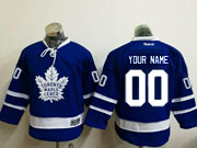 Youth Reebok Nhl Toronto Maple Leafs Custom Made Blue Jersey