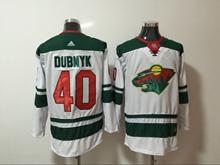 Mens Nhl Minnesota Wild #40 Devan Dubnyk White Home Premier Adidas Jersey