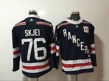 Mens Nhl New York Rangers #76 Skjei Dark Blue 2018 Winter Classic Breakaway Adidas Jersey