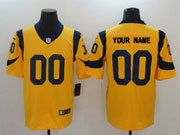 Mens Los Angeles Rams Custom Made Gold Nike Vapor Untouchable Color Rush Limited Player Jersey