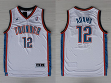 Mens Nba Oklahoma City Thunder #12 Steven Adams White Adidas Jersey