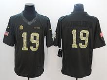 Mens Minnesota Vikings #19 Adam Thielen Black Salute To Service Limited Jersey