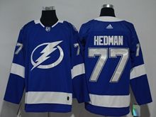 Youth Women Nhl Tampa Bay Lightning #77 Victor Hedman Blue Adidas Jersey