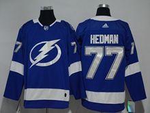 Youth Women Nhl Tampa Bay Lightning #77 Victor Hedman Blue Adidas Jersey