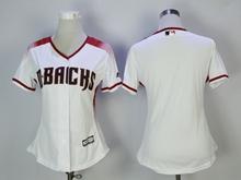 Women Mlb Arizona Diamondbacks Blank New White Jersey