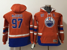 Youth Nhl Edmonton Oilers #97 Connor Mcdavid Orange Hoodie Jersey