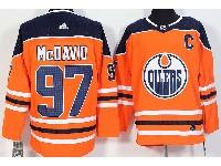 Mens Adidas Nhl Edmonton Oilers #97 Mcdavid Orange Jersey