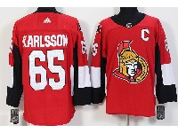 Mens Ottawa Senators #65 Erik Karlsson Red Adidas Jersey