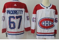 Mens Montreal Canadiens #67 Max Pacioretty White Away Adidas Jersey