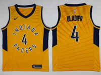Mens Nba Indiana Pacers #4 Victor Oladipo Yellow Swingman Nike Jersey