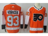Mens Philadelphia Flyers #93 Jakub Voracek Orange Home Adidas Jersey