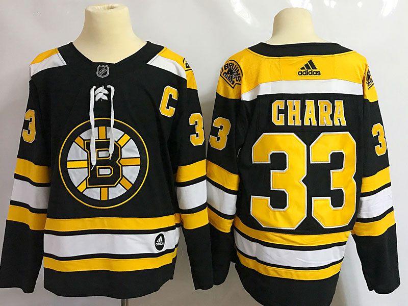 Mens Nhl Boston Bruins #33 Zdeno Chara (c) Black Home Adidas Jersey