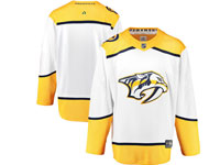 Mens Nhl Nashville Predators Blank White Away Adidas Jersey