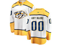 Mens Nhl Nashville Predators Custom Made White Away Adidas Jersey