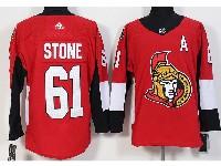 Mens Ottawa Senators #61 Mark Stone (a) Red Home Adidas Jersey