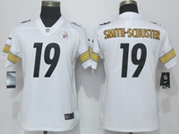 Women Youth Nfl Pittsburgh Steelers #19 Smith-schuster White Vapor Untouchable Limited Player Jersey