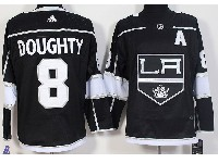 Mens Nhl Los Angeles Kings #8 Drew Doughty (a) Black Adidas Jersey