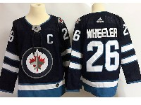Mens Nhl Winnipeg Jets #26 Blake Wheeler (c) Dark Blue Adidas Jersey