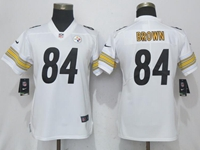 Women Youth Nfl Pittsburgh Steelers #84 Antonio Brown White Vapor Untouchable Limited Player Jersey