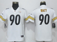 Women Youth Nfl Pittsburgh Steelers #90 T. J. Watt White Vapor Untouchable Limited Player Jersey