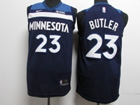 Mens Youth 2017-18 Season Nba Minnesota Timberwolves #23 Jimmy Butler Blue Nike Player Jersey
