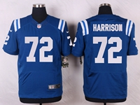 Mens Nfl Indianapolis Colts #72 Harrison Blue Elite Nike Jersey