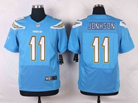 Mens Nfl Los Angeles Chargers #11 Stevie Johnson Light Blue Elite Nike Jersey